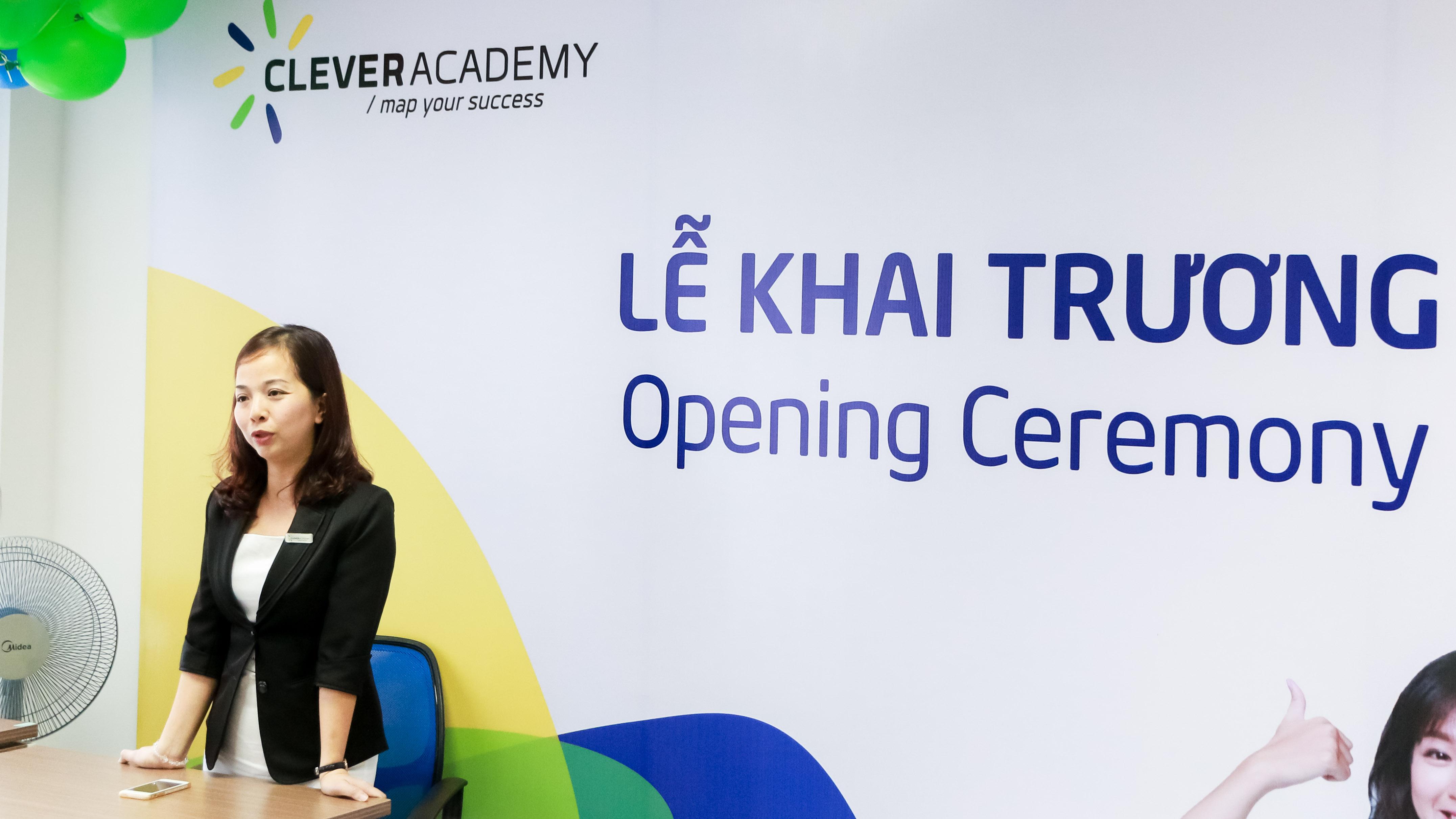 Chị Trần Thanh Ngân, Tổng Giám Đốc của Học viện Anh ngữ Quốc tế Clever Academy