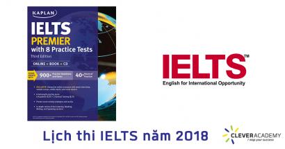 Lịch thi IELTS năm 2018
