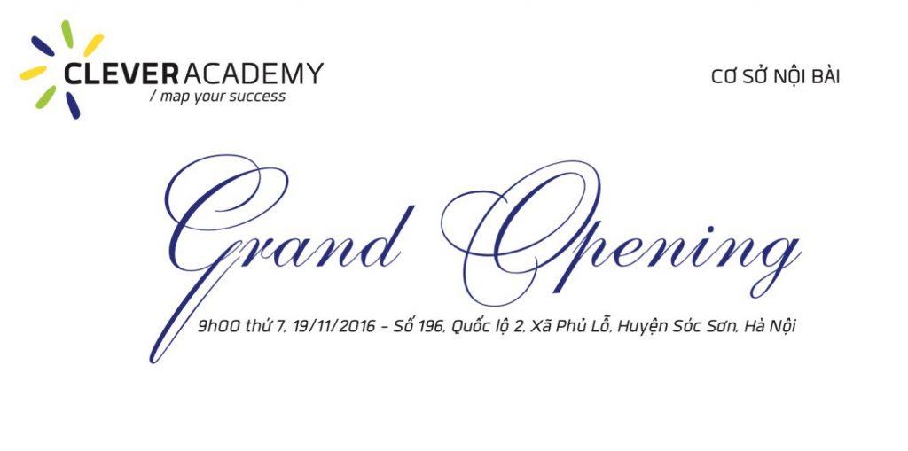 Khai trương Clever Academy - Nội Bài Campus