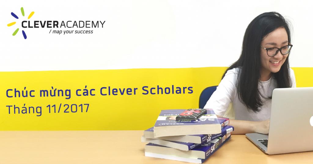 Chúc mừng các Clever Scholars môn SAT tháng 11/2017