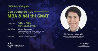 Hội thảo: Con đường Du học - MBA và Bài thi GMAT