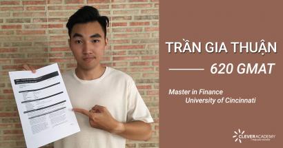 Trần Gia Thuận - 620 điểm GMAT