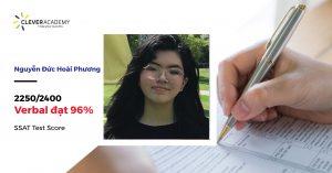 Nguyễn Đức Hoài Phương - Xuất sắc dành điểm số SSAT cực cao 2250 (90%)